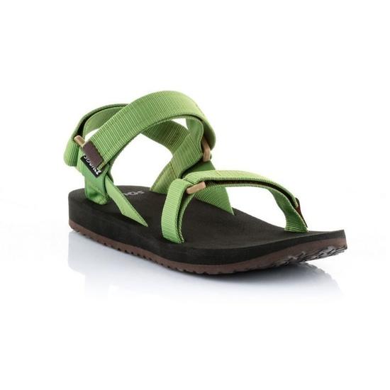 Sandále SOURCE Urban Men's Leather Green