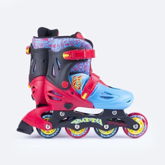 Kolieskové korčule Spokey BUDDY modro-červené