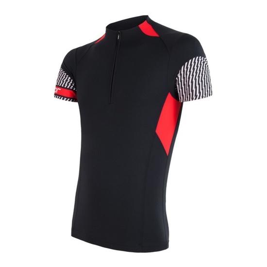 Pánsky cyklo dres Sensor CYKLO RACE čierna / červená 17100060