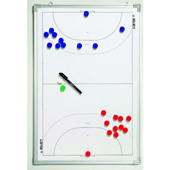 Taktická tabula Select Tactics board alu handball biela