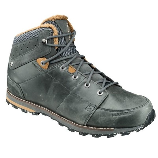 Topánky Mammut Chamuera Mid WP Men Dark graphite-timber