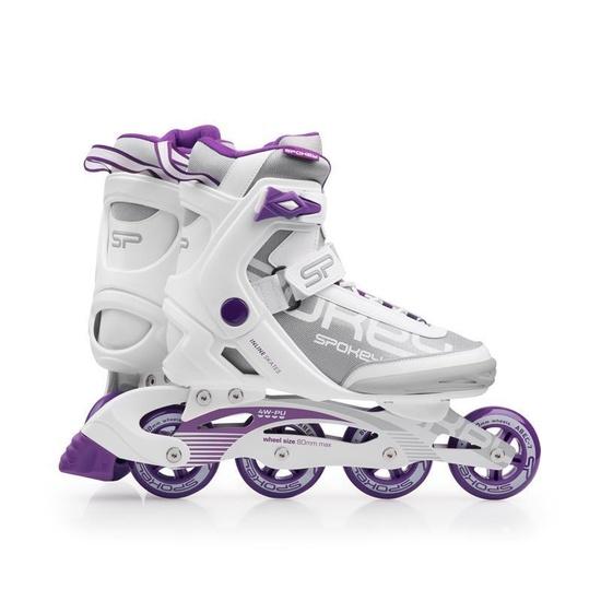 Kolieskové korčule Spokey PRIME bielo-fialové