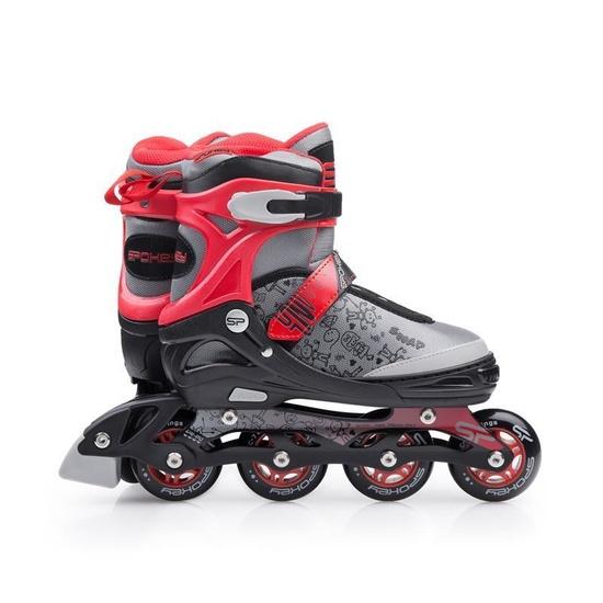 Kolieskové korčule Spokey SNAP šedo-červené