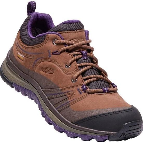 Dámske topánky Keen Terradora Leather WP W, scotch / mulch