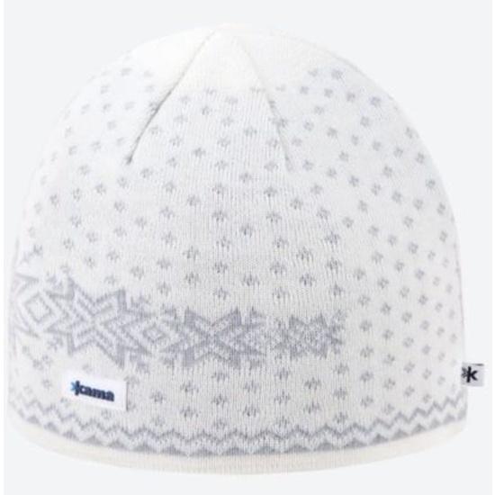 Pletená Merino čiapka Kama A128 101 prírodne biela