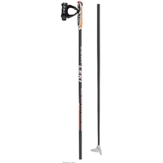 Bežecké palice LEKI CC 600 6434087 black / white-neonred