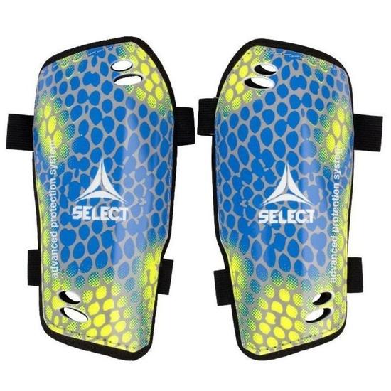 Chrániče holene Select Shin guards Standard žlto modrá