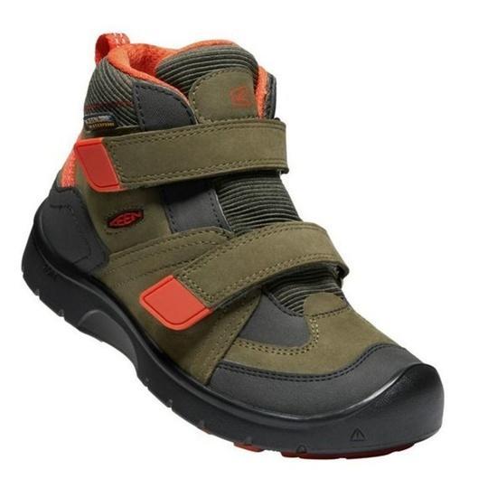 Detské topánky Keen Hikeport MID Strap WP C, martini olív / pureed pumpkin