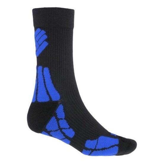 Ponožky Sensor Hiking Merino Wool čierna / modrá 18200062