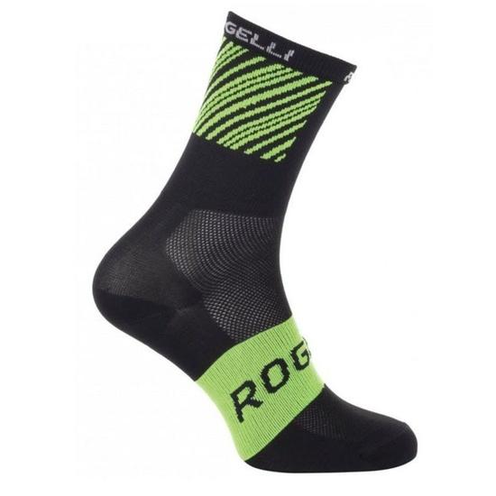 Antibakteriálny ponožky s miernu kompresiou Rogelli RITMO, čierno-zelené 007.201.