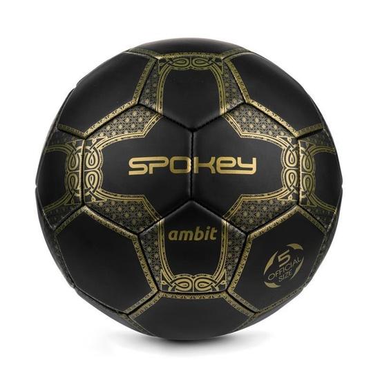 Spokey AMBIT futbalový lopta čierno-zlatý veľ. 5