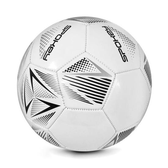 Spokey STENCIL Futbalový lopta veľ. 5 bielo-sivý