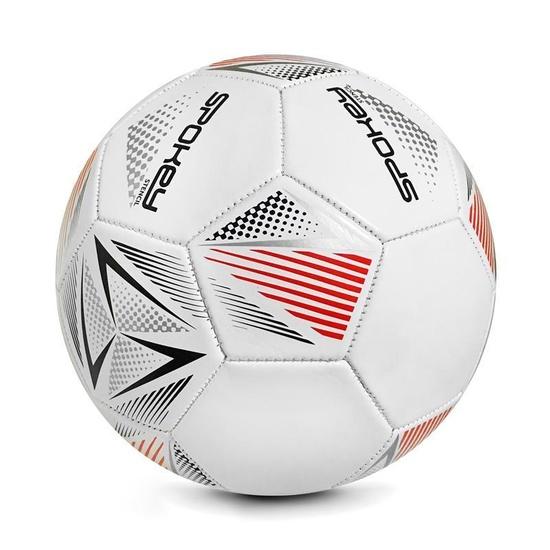 Spokey STENCIL Futbalový lopta veľ. 5 bielo-červený