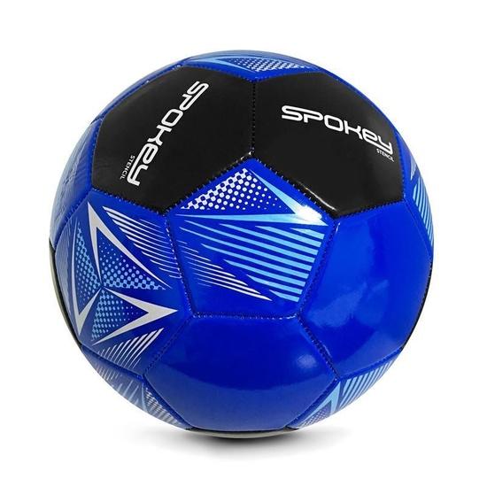 Spokey STENCIL Futbalový lopta veľ. 5 modro-čierny