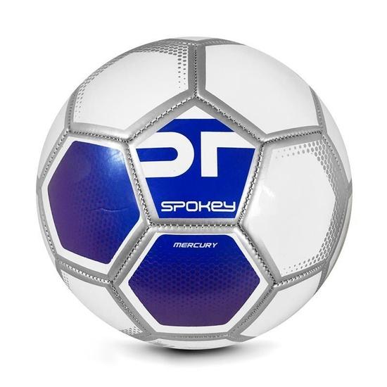 Spokey MERCURY Futbalový lopta veľ. 5 bielo-modrý