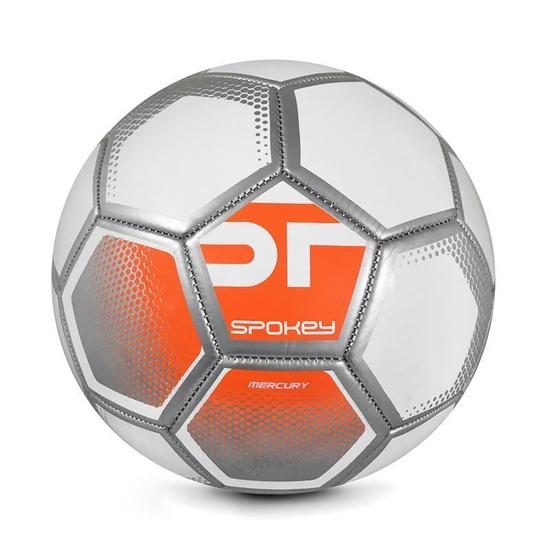Spokey MERCURY Futbalový lopta veľ. 5 bielo-oranžový