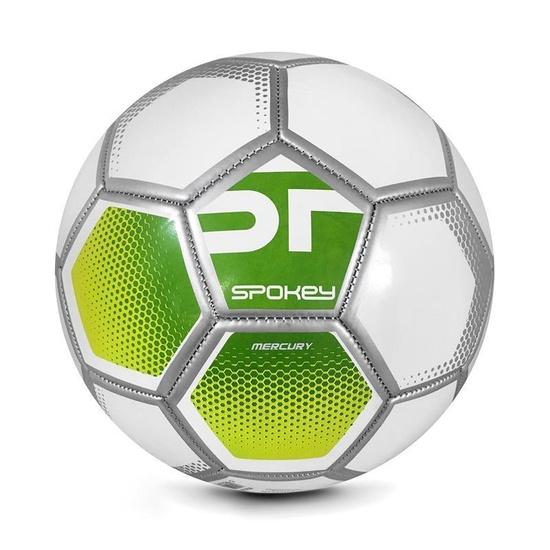 Spokey MERCURY Futbalový lopta veľ. 5 šedo-zelený