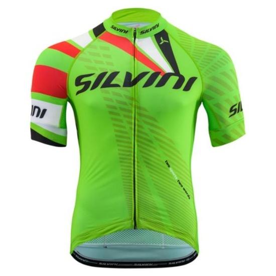 Pánsky cyklistický dres Silvini TEAM MD1400 green