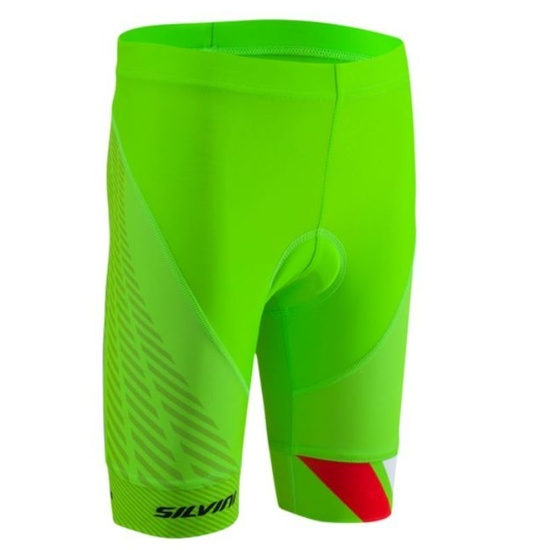 Detské cyklistické nohavice Silvini Team CP1436 green
