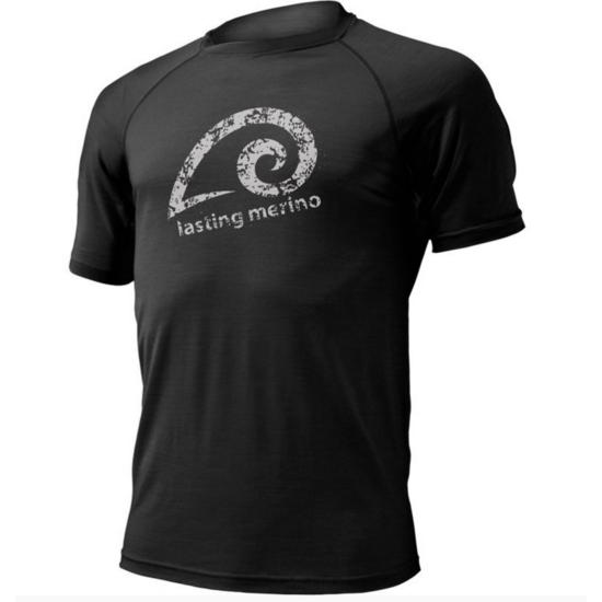 Pánske merino triko Lasting MERIL čierne
