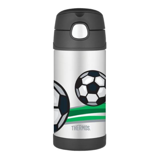 Detská termoska s slamkou Thermos Funtainer futbal