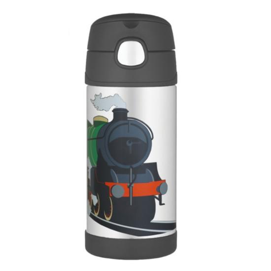 Detská termoska s slamkou Thermos Funtainer vlak