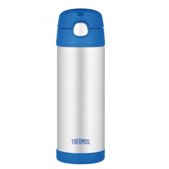 Detská termoska s slamkou Thermos Funtainer modrá 470ml 120022