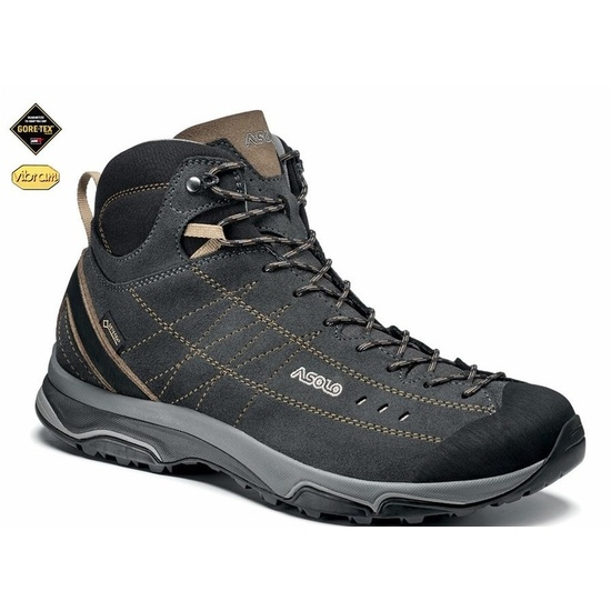 Topánky ASOLO nucleon Mid GV MM graphite brown A921