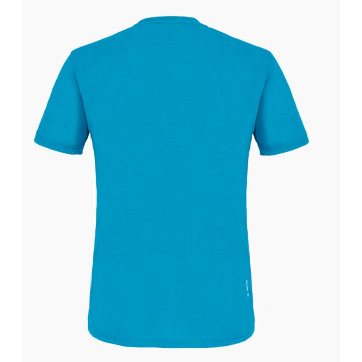 Pánske tričko Salewa Printed Box Dry blue danube melange 28259-8989