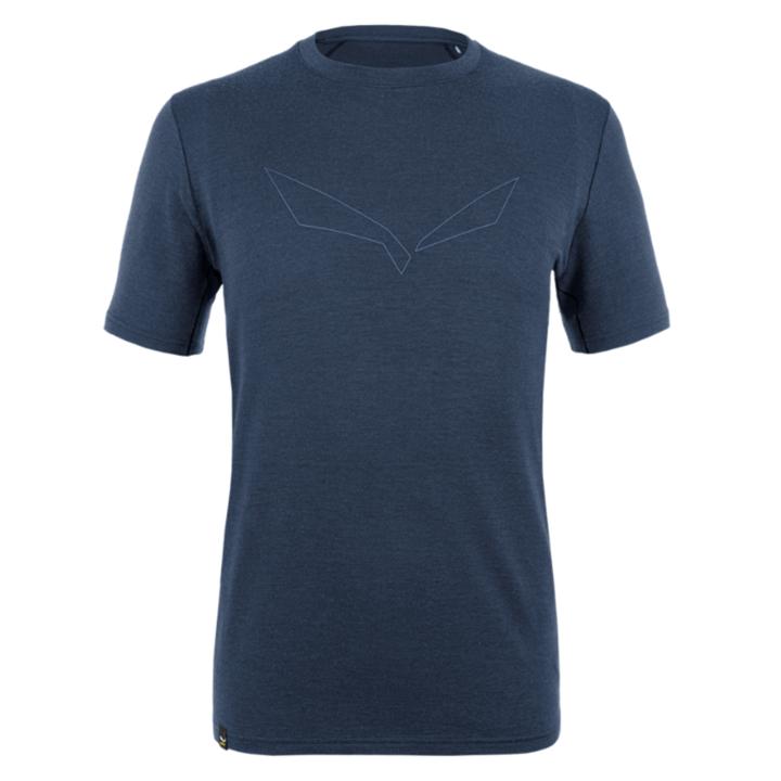 Pánske tričko Salewa pure logo merino responsive navy blazer 28264-3960