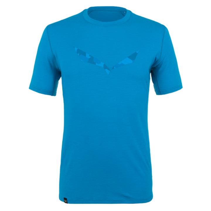 Pánske tričko Salewa pure logo merino responsive Cloisonne blue 28264-8660