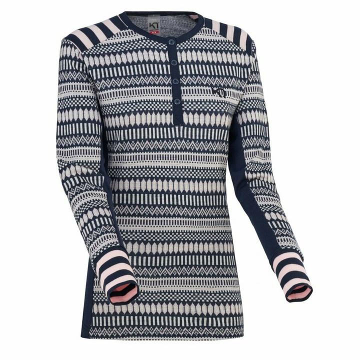 Dámske vlnené tričko s dlhým rukávom Kari Traa Åkle LS modré