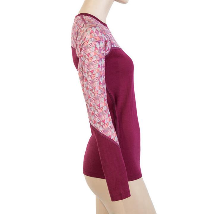 Dámske triko Sensor Merino Impress lillie / pattern 19200024