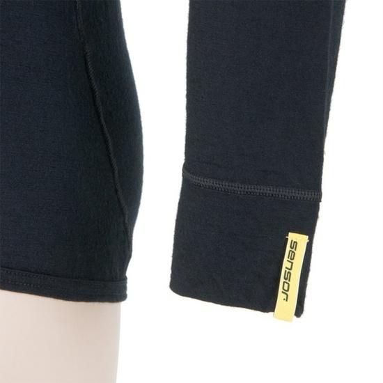 Pánske triko Sensor Merino Wool Active čierne 11109033