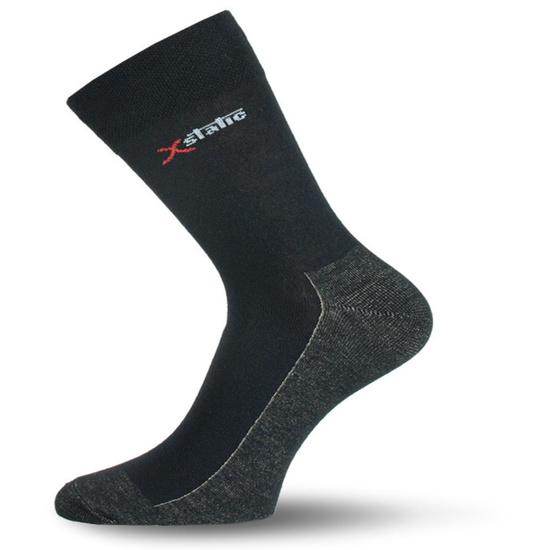 Ponožky Lasting XOL farba-kombinácia : čierna/šedá