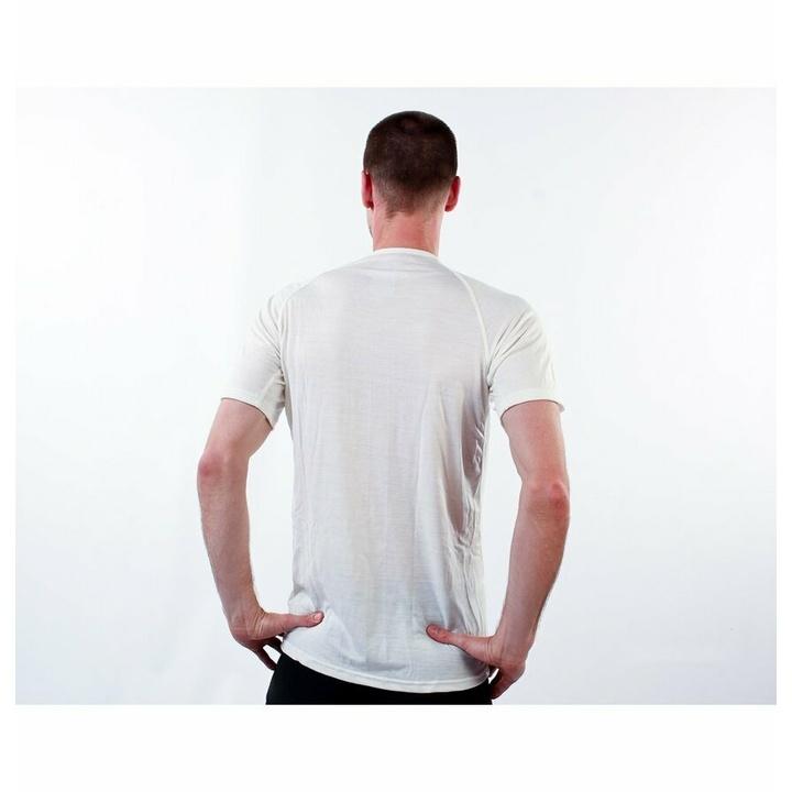Pánske triko Devold Breeze Man T-shirt GO 180 211 A 000A biela
