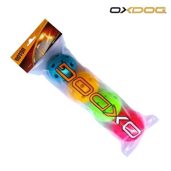 Sada florbalových loptičiek Oxdog Rotor Ball Color Tube