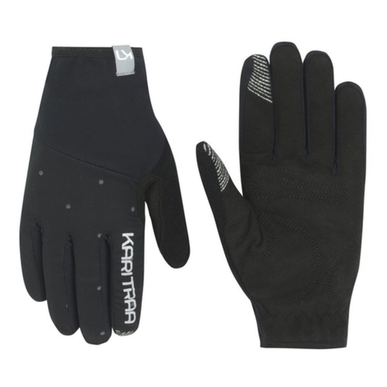 Dámske rukavice Kari Traa Eva Black / Dark Grey