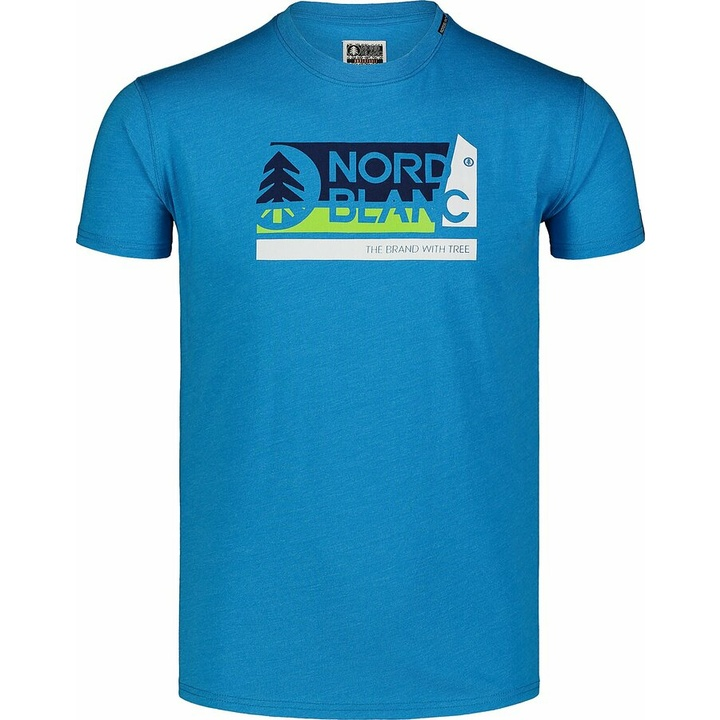 Pánske bavlnené tričko Nordblanc WAL LON modré NBSMT7391_AZR