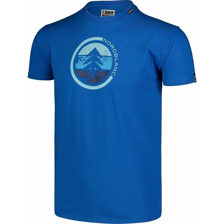 Pánske bavlnené tričko Nordblanc TRICOLOR modré NBSMT7397_INM
