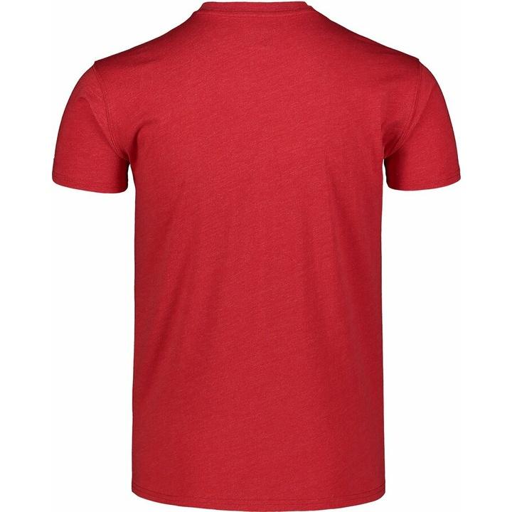 Pánske bavlnené tričko Nordblanc TRICOLOR červené NBSMT7397_TCV