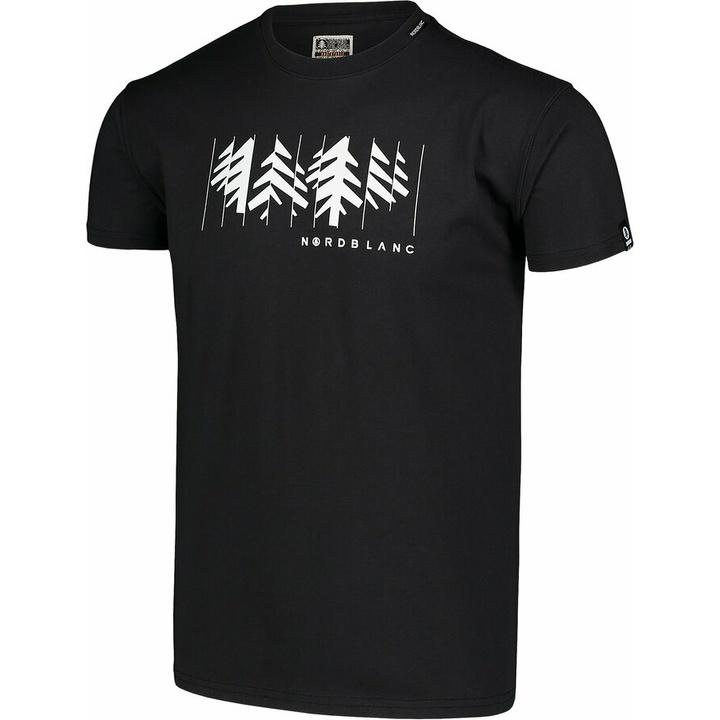 Pánske bavlnené tričko Nordblanc DEKONŠTRUKOVANÉ čierne NBSMT7398_CRN
