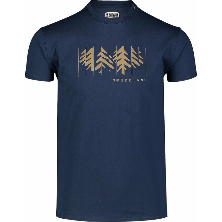 Pánske bavlnené tričko Nordblanc DEKONŠTRUKOVANÉ modré NBSMT7398_MOB