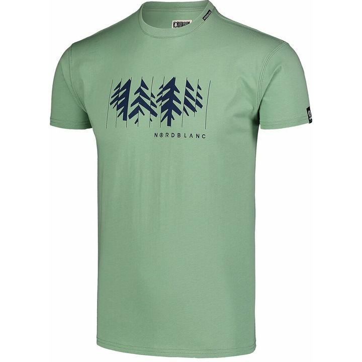 Pánske bavlnené tričko Nordblanc DEKONŠTRUKOVANÉ zelené NBSMT7398_PAZ