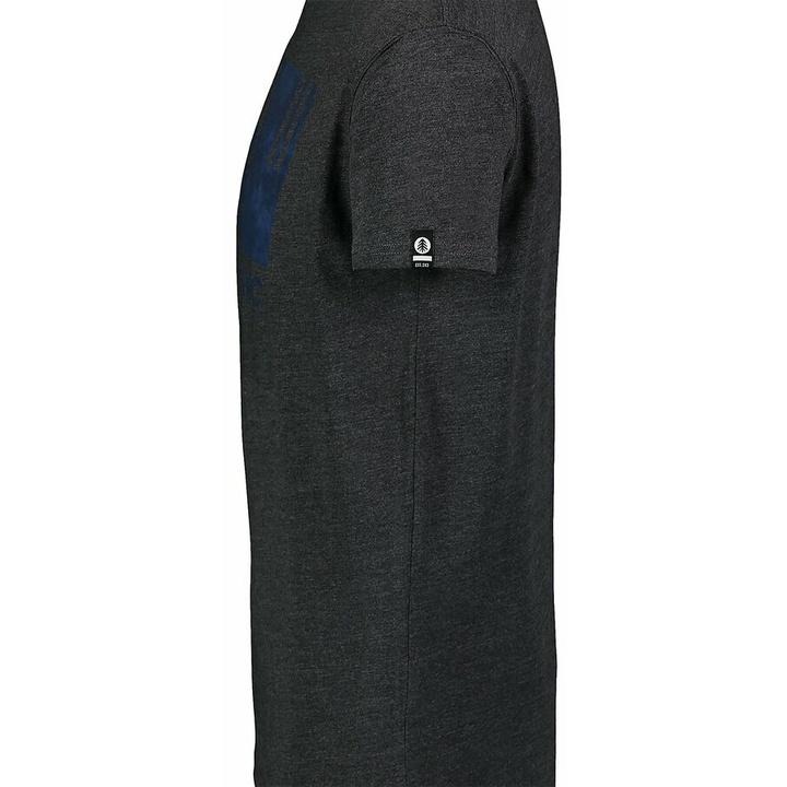 Pánske bavlnené tričko Nordblanc TREETOP čierna NBSMT7399_CEM