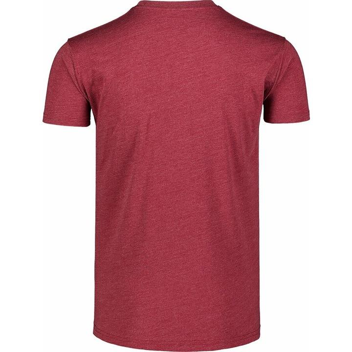 Pánske bavlnené tričko Nordblanc TREETOP vínovej NBSMT7399_HCA