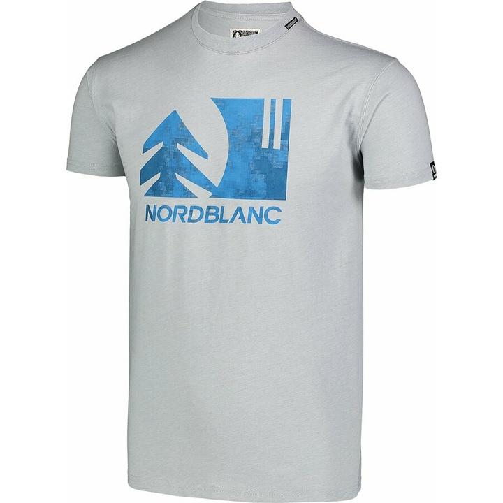 Pánske bavlnené tričko Nordblanc TREETOP šedé NBSMT7399_SSM