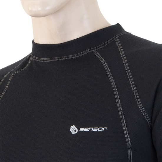 Tričko Sensor Double Face čierne 1003019-02