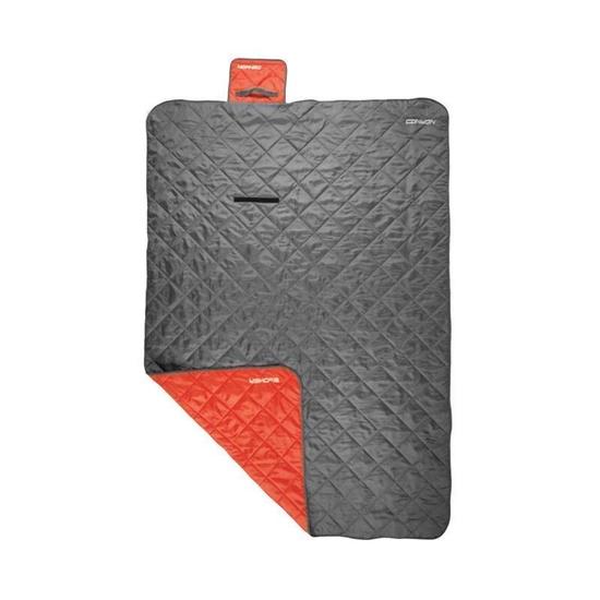 Spacie vrece Spokey CANYON 200x140 cm, deka, šedo / červený