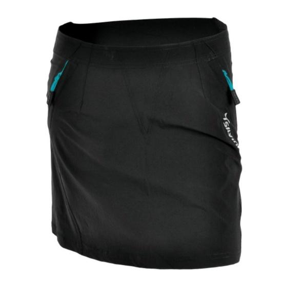 Dámska cyklistická sukňa Silvini INVIO WS859 black-turquoise